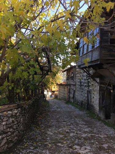 Urige Gasse in Ürünlü bei Ormana in der Türkei.