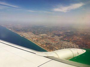 Anflug auf Israel mit Germania