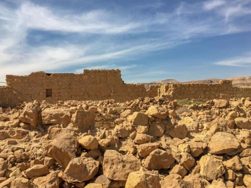 Die Ausgrabungen in Masada, Israel