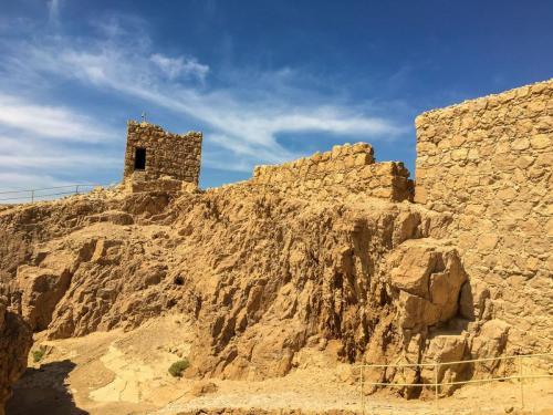 Ein Gang durch die Festung Masada in Israel