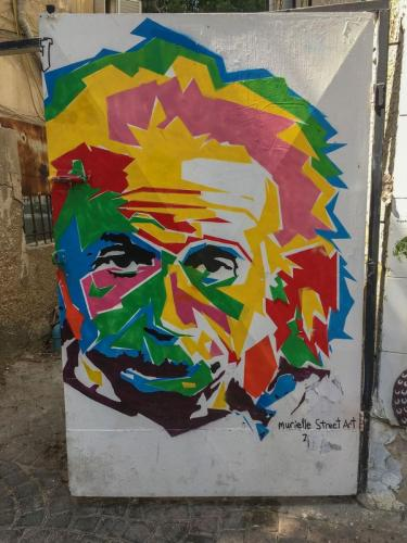 Streetart in Tel Aviv: Albert Einstein