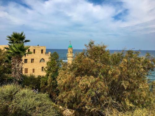 Ausblick in Tel Aviv Jaffa Richtung Andromeda-Felsen