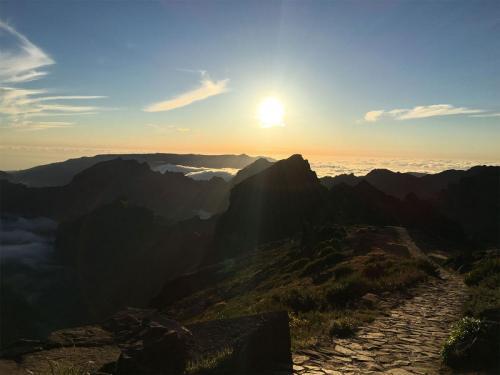 Sonnenuntergang am Pico do Arieiro auf Madeira